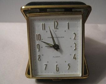 Vintage Phinney-Walker Clock Alarm Travel Clock Germany