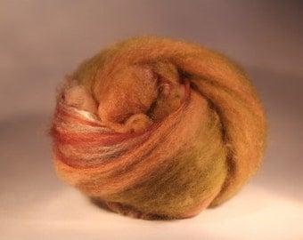 Wool Fiber Spinning Batt - Forest Floor