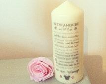 Gorgeous Princess disney quote unique sparkle candle