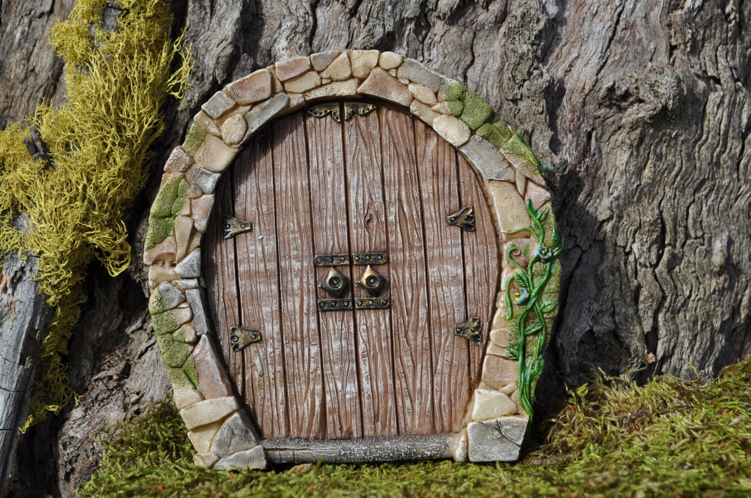 Fairy door enchanted fairy garden doorhobbitfariy doorfariy for Outdoor fairy door