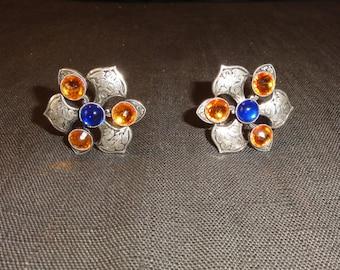 baroque earrings silver