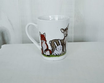 Be a Little Wild Woodland Creatures 14oz tapered mug
