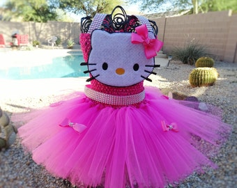 Glam Hello Kitty  Inspired tutu dress