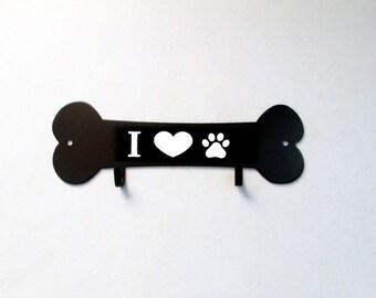 Dog Bone Leash Holder Wall Decor by Reflective Edge Designs