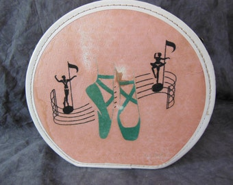 Children's Ballerina Travel Case / Suitcase - Vintage - in Pink