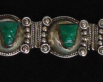 925 Silver Bracelet Signed Southwest Design Beautiful Detail