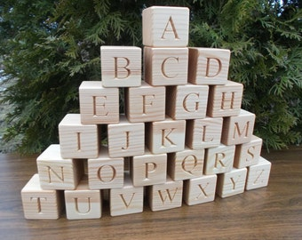 ABC blocks, Wooden English alphabet blocks, Educational gift, Gift, Wooden block letters, ABC, Wooden blocks, baby shower gift, Christmas