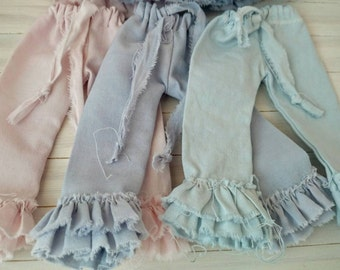 Hand dyed Blythe cotton ruffle trousers
