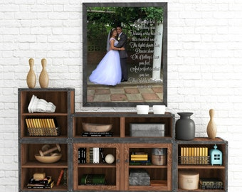 """Personalized """"Photo with Message Overlay"""" Wall Art"""