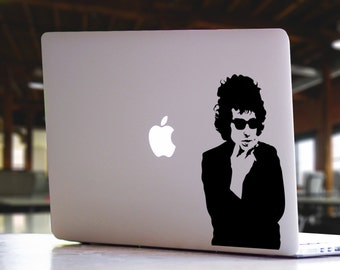 Bob Dylan Inspired MacBook Decal - Guitar Music Musical Legend Mac iPad Laptop Decal Sticker