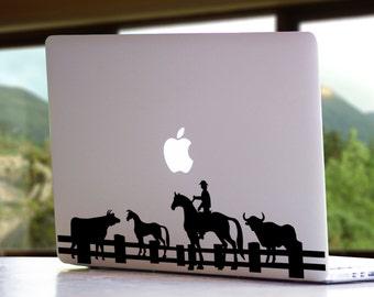 Farm Life MacBook Mac Laptop Vinyl Decal Sticker