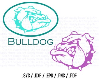 Bull Dog Clipart, Bulldog Wall Art, Silhouette Studio, Cricut Design, Brother Scan Cut, Scal, DXF File, SVG Font, EPS File, Svg Font - CA302