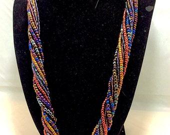 Auntumn haze multistrand necklace