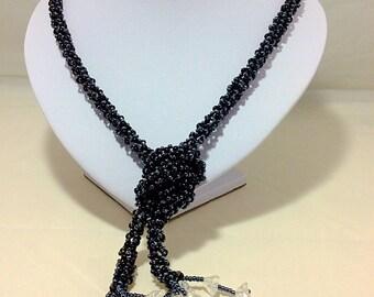 Black spiral necklace