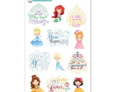 Princess Quotes Stickers - Disney Planner Stickers