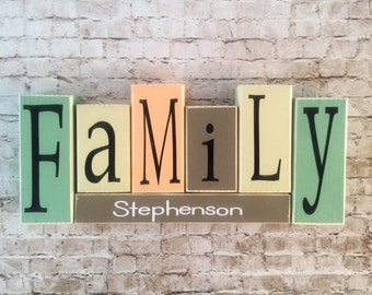 Personalized Family Name Blocks