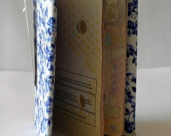 passport holder in blue and white