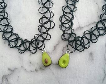 Avocado friendship choker set. Friendship necklace