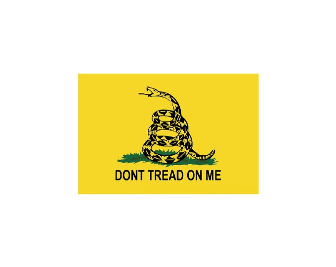 Don't Tread On Me Decal Vinyl or Magnet Bumper Sticker
