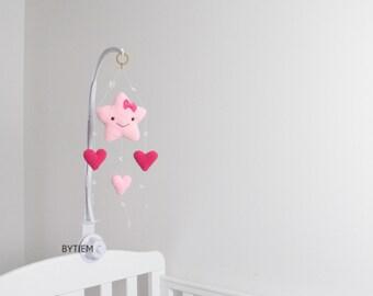 Meisje van de baby mobiel etsy - Muur kamer meisje ...