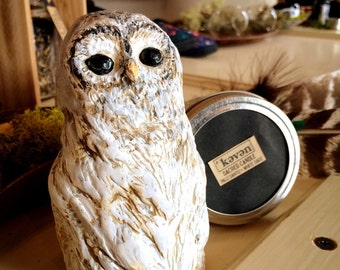 Owl Figurine - Sacred Altar Celtic Proyectiim and Blessing Nature Spirit Old Pagan Tradition