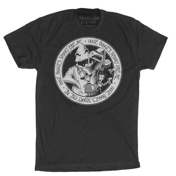 Nightmare Before Christmas Shirt - Oogie Boogie Shirt - Mens Craft Beer Shirt Hand Screen Printed on a Mens T Shirt - Mens Craft Beer Shirt