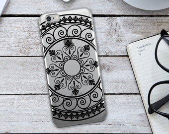 Tribal Mandala  iPhone Case - Tribal Mandala Phone Case - Tribal Phone Case - Mandala iPhone Case - Black iPhone Case - iPhone Case -