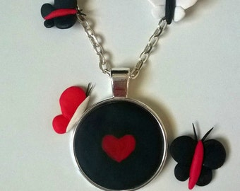 Heart in the Darkness Necklace with Silver Chain