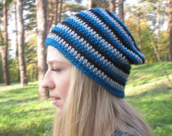 Ski Hat, Crochet Beanie, Women's Hat, Men's Hat, Fall beanie, Winter Hat, Sport Hat, Spring Hat, Ready To Ship