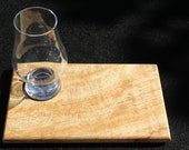 Scottish Spalted Beech Coaster or Serving Tray with Glencairn Nosing Glass.