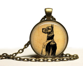 Animal necklace General dog pendant Vintage jewelry