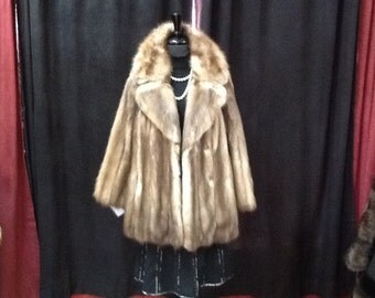 Russian stone Martin fur jacket
