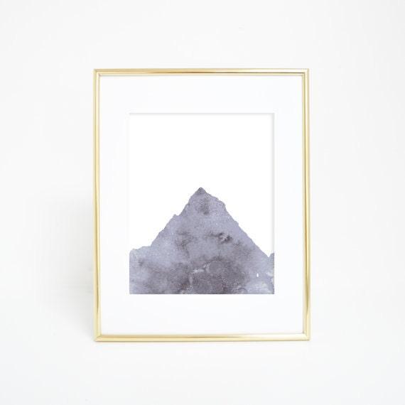 Gray Mountain, Mountain Print, Mountain Wall Art, Mountain Decor, Mountain Artwork, Gray Print, Neutral Print, Mountain Nursery, Wall decor
