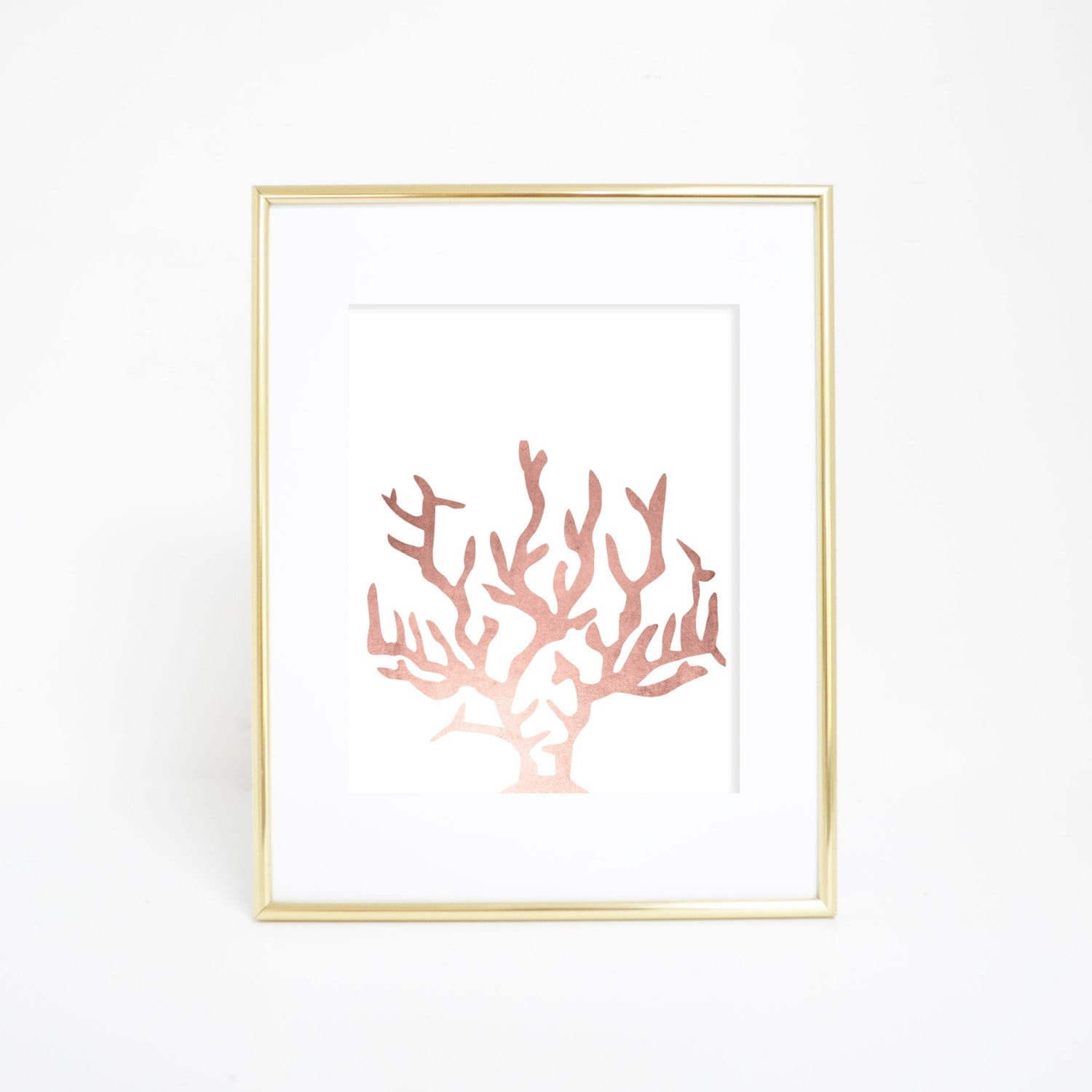 Rose gold nursery rose gold wall art coral art print wall for Gold wall art