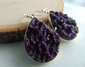 20% Off Any Order Sterling silver Purple Druzy