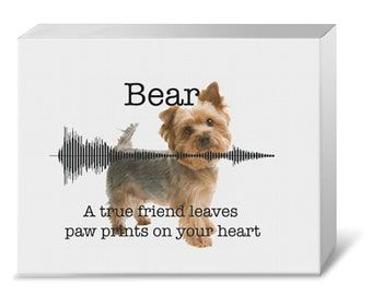 Your Voice & Photo Waveform Gallery Canvas (with Your Photo Background)