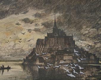 Mont Saint-Michel Picture Print