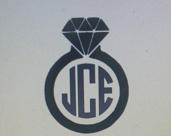 Diamond Ring with Monogram