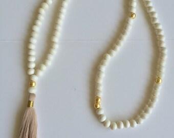 Bone Tassel Necklace