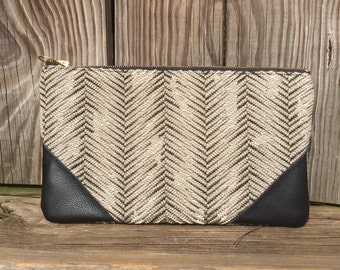 Black and gray clutch