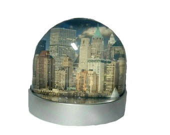 New York Skyline - Glitter/Snow Globe, Snowglobe, Dome
