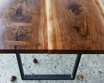 Live Edge  Figured Walnut Dining Table