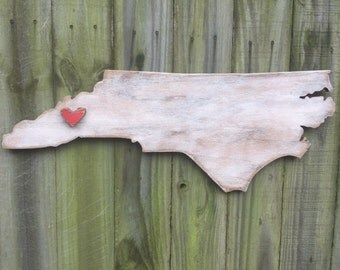 Weathered North Carolina with Heart