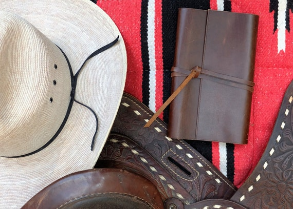 Leather Refillable Journal and Card Case