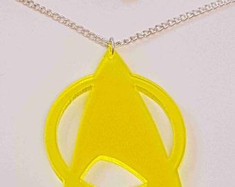 Star Trek Symbol Necklace - Acrylic