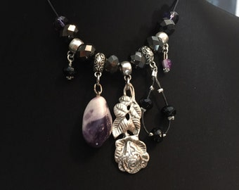 Beautiful necklace with different pendants