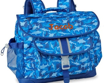Personalized Bixbee Shark Camo Big Kids Backpack (Large)