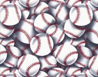 Baseball Fabric Sports Fabric by the Yard / Baseball   C2159  Timeless Treasures / Fat Quarter / 1 Yard Cut  / 1/2 Yard Cuts