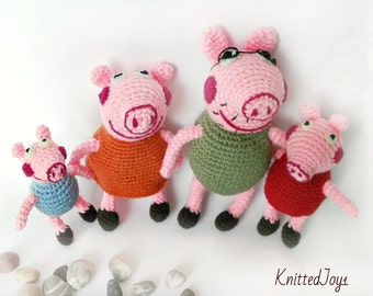 peppa pig play,peppa pig playset,doll house games,family puppets,family peppa pig, doll pig ,gifts for kids,Popular Gifts,crochet cartoon