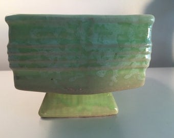 Vintage Light Green Ceramic Planter